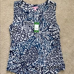 Lilly Pulitzer womens sleeveless Stacey top